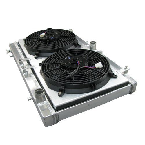 CXRACING RADIATOR KIT WITH FANS AND SHROUD: ECLIPSE/TALON 1995-99